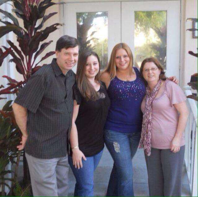 Jennifer Curran with her family