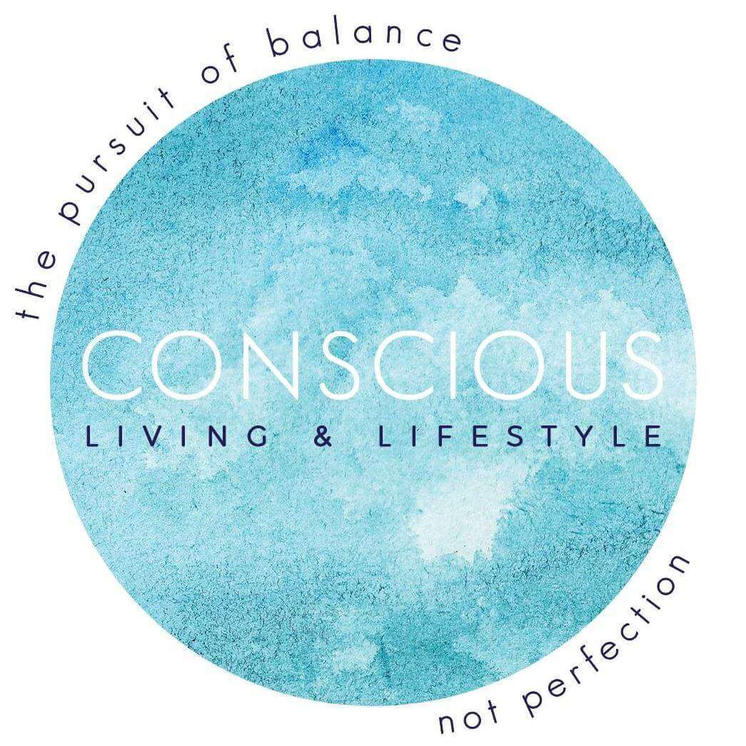 Conscious living and lifestyle logo.