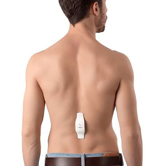 New device aimed at correcting poor posture being worn.